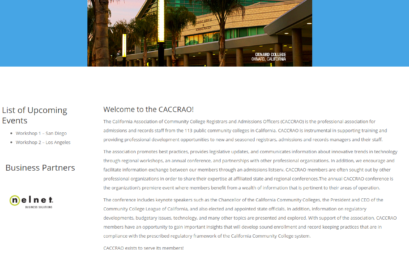 Welcome to the new CACCRAO Website